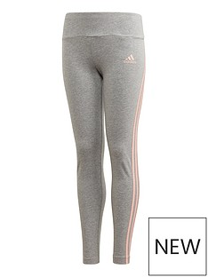 adidas-girls-3-stripes-tight-grey-heather