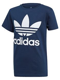 adidas-originals-childrensnbsptrefoil-t-shirt-navy