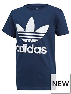 adidas-originals-childrensnbsptrefoil-t-shirt-navy