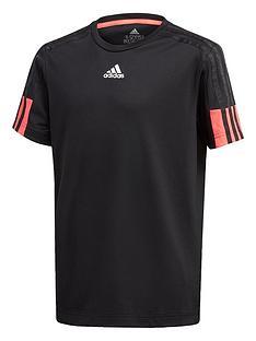 adidas-boys-aeroreadynbsp3-stripes-t-shirt-black