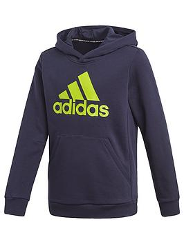 adidas-boys-badge-of-sport-hoodie-navy