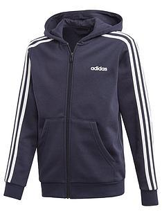 adidas-boys-3-stripes-full-zip-hoodie-navy