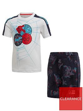 adidas-boysnbspspider-man-t-shirt-and-shorts-set-multi