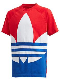 adidas-originals-childrensnbspbig-trefoil-t-shirt-red