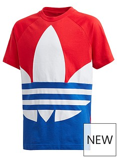 adidas-originals-childrensnbspbig-trefoil-t-shirt-red