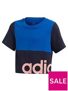 adidas-girls-linearnbspt-shirt-navy