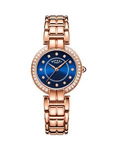 rotary-exclusive-rotary-blue-sunray-and-swarovski-dial-rose-gold-stainless-steel-bracelet-ladies-watch