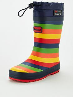 v-by-very-younger-childrensnbspstripe-wellie-with-toggle-fastening-multi