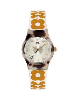 orla-kiely-mini-bobby-grey-tortoise-shell-case-white-and-tan-stem-print-strap-watch