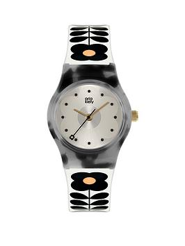 orla-kiely-mini-bobby-tortoise-shell-case-white-and-black-stem-print-strap-watch