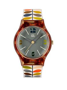 orla-kiely-orla-kiely-bobby-tortoise-shell-case-multi-colour-stem-print-strap-watch