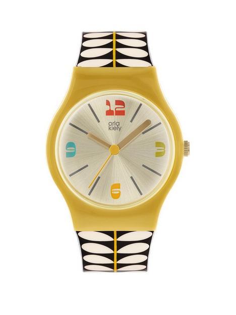 orla-kiely-orla-kiely-bobby-yellow-case-black-and-white-stem-print-strap-watch