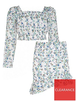river-island-girls-2-piece-floral-top-and-skirt-set--nbspwhite