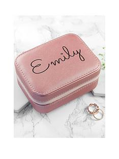 personalised-pink-travel-jewellery-case