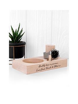 personalised-oak-wood-watch-stand