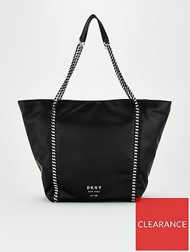 dkny-alixis-punbspchain-tote-bag-black