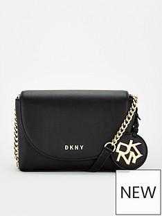 dkny-dayna-flap-cross-body-bag-black