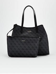 guess-vikky-four-g-print-tote-bag-black