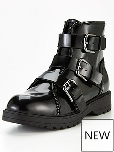 guess-wemdy-triple-buckle-ankle-boots-black