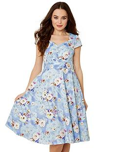 joe-browns-stunning-vintage-print-dress-light-blue