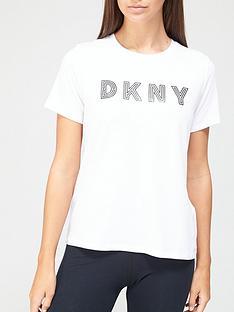 dkny-sport-track-logo-t-shirt-white