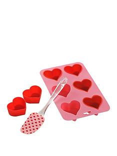 premier-housewares-8-piece-silicone-heart-baking-set