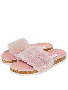 accessorize-luxe-faux-fur-slider-pink
