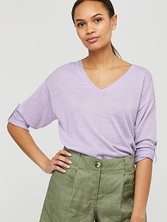 monsoon-tilly-tab-sleeve-linen-blend-jumper-lilac