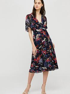monsoon-oaklyn-sustainable-print-tea-dress-navy