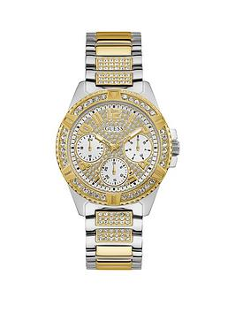 Guess Guess Lady Frontier Silver And Gold Detail Glitz Multi Dial Two Tone Stainless Steel Bracelet Ladies Watch