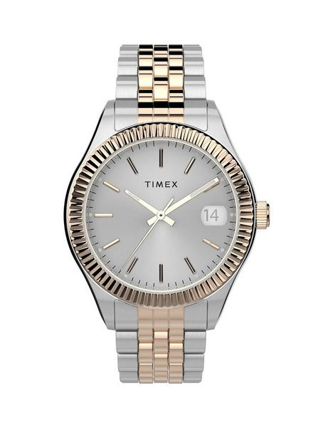 timex-timex-waterbury-silver-and-gold-detail-date-dial-two-tone-stainless-steel-bracelet-ladies-watch