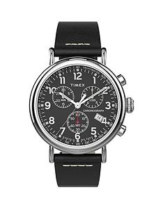 timex-timex-black-and-silver-detail-chronograph-dial-black-leather-strap-mens-watch