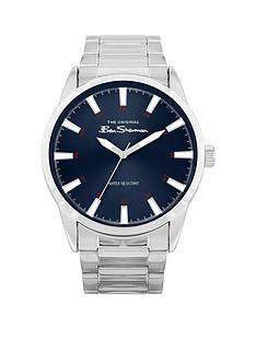 ben-sherman-ben-sherman-blue-sunray-dial-stainless-steel-bracelet-mens-watch