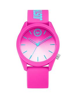 hype-hype-pink-and-white-ombre-dial-pink-and-turquoise-just-hype-print-silicone-strap-kids-watch