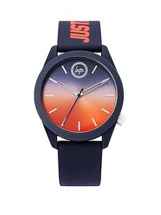 hype-hype-orange-and-blue-ombre-dial-navy-and-orange-just-hype-print-silicone-strap-kids-watch