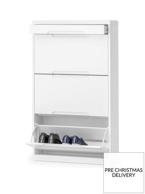 julian-bowen-manhattan-shoe-cabinet-with-drawer