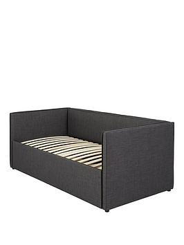Product photograph showing Hayden Fabric Day Bed With High Level Trundle And Mattress Options Buy And Save - Bed Frame Only