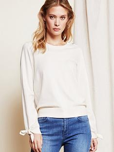 fabienne-chapot-molly-bow-cuff-knitted-top-cream