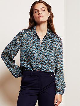 fabienne-chapot-frida-peacock-print-blouse-blue
