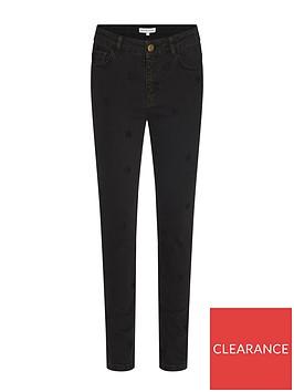 fabienne-chapot-eve-star-embroidered-slim-leg-jeans-black