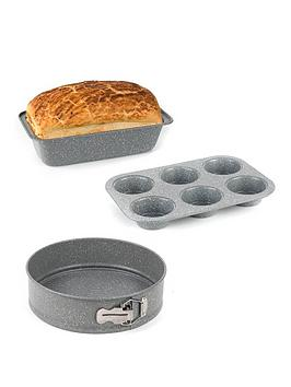 salter-marble-collection-bakeware-set-with-loaf-baking-tray-muffin-tray-and-baking-pan