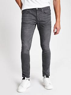 river-island-skinny-ray-grey