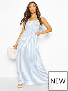boohoo-tie-shoulder-elasticated-waist-maxi-dress-whiteblue