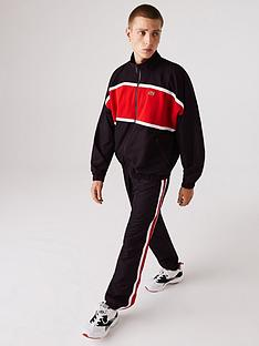 lacoste-stripe-detail-tracksuit-blackred