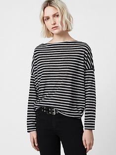 allsaints-rita-stripe-long-sleeve-top-blackwhite