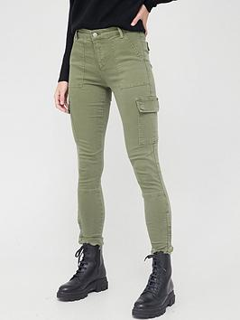 Allsaints Duran Cargo Skinny Jeans - Khaki
