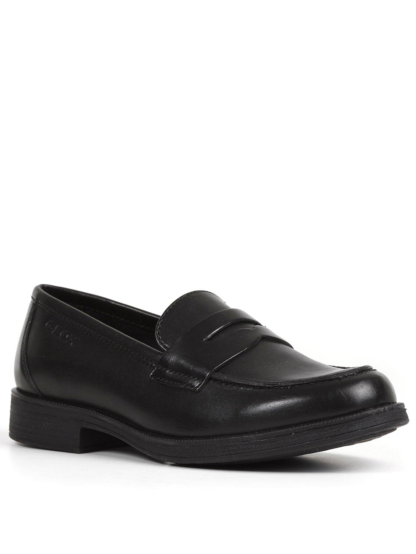 geox black loafers