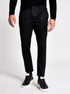 river-island-axis-skinny-chino-black