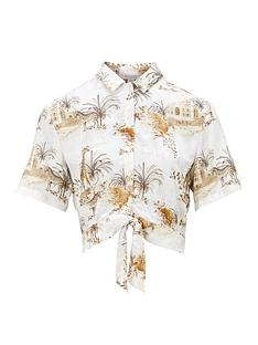 allsaints-leni-animal-print-shirt-white