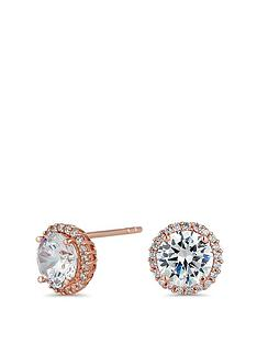 simply-silver-14ct-rose-gold-plate-halo-studs